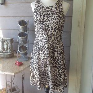 NWT F21 black/white leopard sleeveless dress